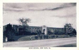 Postcard-High-School-New-Hope-PA