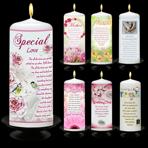 Nouveau ensemble Cadeau Bougie humeur bougies en cire avec poème spécialement Message poétique écrit