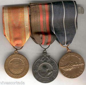 Finlandia-Medalla-militar-pasador-tres-piezas-2-Guerra-mundial