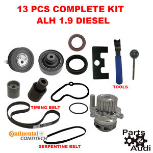 1 9 alh tdi diesel vw golf jetta beetle timing belt kit; w water