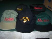 (5) Marines Hats One Size Fits All