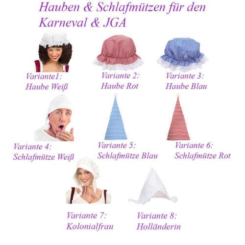 HAUBE SCHLAFMÜTZE Karneval JGA Party Mittelalter Hut Mütze Nachtmütze Oma # F11