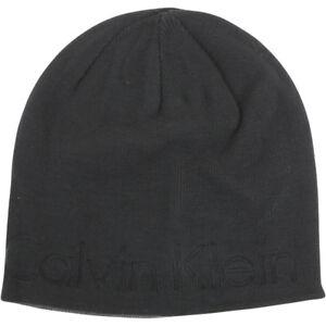 94624012c8c5ba Calvin Klein Men's Embossed Logo Beanie Cap Winter Hat (One Size ...