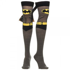 ~ BATMAN THIGH HIGH SOCKS with Cape ~ Womens Superhero Costume BATGIRL BATWOMAN