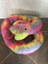 "IKEA Djungelorm Multicolour Tie Dye Hippy Snake Soft Plush Toy 70"" Long Rare VGC"