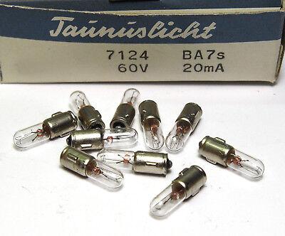 ba7s 60v//20 ma 10x taunuslicht bayoneta-birnchen//teléfono-lámpara nos