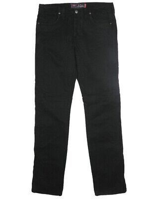 2019 Nuovo Stile Pantaloni Jeans Uomo Jaggy Mcqueen Tg W 34 It 48 Slim Nero Cotone Gabardine Ottima Qualità