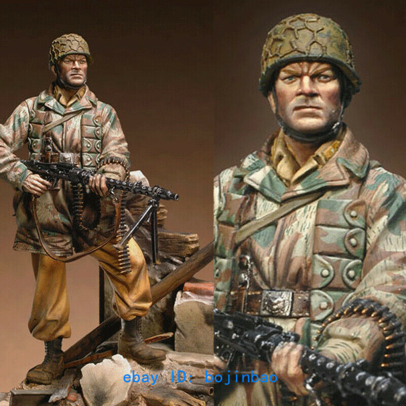 1 18 Scale 90mm Paratrooper With Stand Unpainted Resin Figure Model Kits Statue