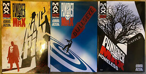 Punisher MAX HC set Kingpin Bullseye Homeless RARE OOP Death of Punisher!