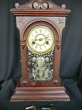 ANTIQUE 1878 ANSONIA CLOCK -116 YEARS OLD--GREAT FOR COLLECTORS
