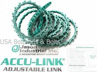 Accu-link Adjustable Link Belt, 3l Profile, 3/8 Width, 5ft Length