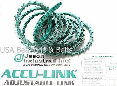 """Size B ACCU-Link 5//8/""""  X 8/' Adjustable  V Belt Adjustable Link Belt Jason B"""