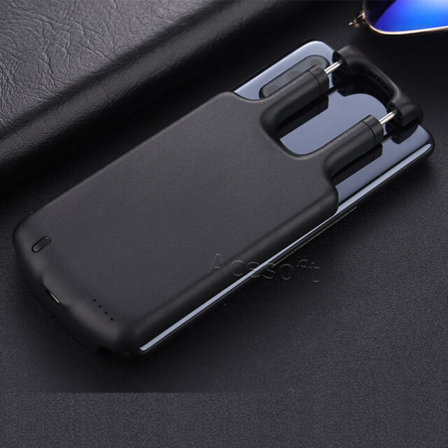 Black Fast Charging Battery Charger Power Case Extended Backup Power Back for LG Stylo 4-5000mAh