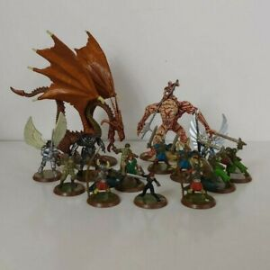 15-Figure-Heroscape-Figures-Collection-Lot-Includes-Dragon-and-Others-Used