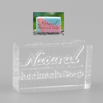 Acrylic Rectangle Natural Word Handmade Soap Stamping Stamp Seal Mold Craft DIY