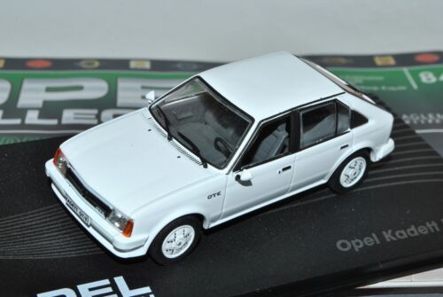 Opel Kadett D GTE Weiss 5 Türer 1979-1984 Modell ab 1983 Nr 84 1//43 Ixo Modell..