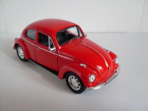 VW escarabajo rojo, Welly auto modelo aprox. 1:35, nuevo