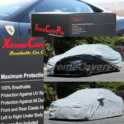 Black 2015 TOYOTA 4RUNNER Breathable Car Cover w//Mirror Pockets