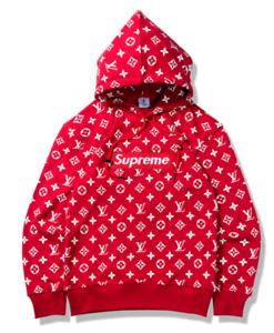 Details zu Supreme Hoodie Sweatshirt Pullover Lange Ärmel Kapuzenpullover Mantel jacke 2019