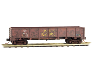 N Scale MTL MICRO-TRAINS 083 44 100 UNION PACIFIC 40' Gondola Weathered W Load