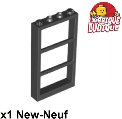 1x window fenêtre 1x4x6 frame cadre 3 panes barre noir//black 57894 NEUF Lego