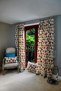 Image Is Loading McAlister Textiles Vita Cotton Terracotta Orange Triangle Print