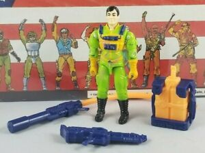 Original-1991-GI-JOE-FLINT-V3-UNBROKEN-figure-ARAH-not-COMPLETE-Eco-Warriors
