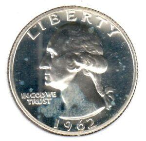 1962 Proof Washington Quarter Silver Coin Twenty Five Cent