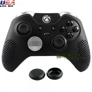 Black-Soft-Silicone-Case-Cover-Skin-Thumb-Grips-for-Xbox-One-Elite-Controller