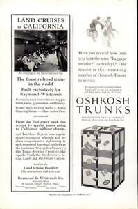 Advertising-Railroad-Land-Cruises-to-California-Oshkosh-Trunks-Wisconsin-1926
