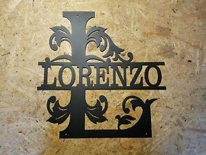 Monogramm in Edelrost Namensschild Wandbild Türschild
