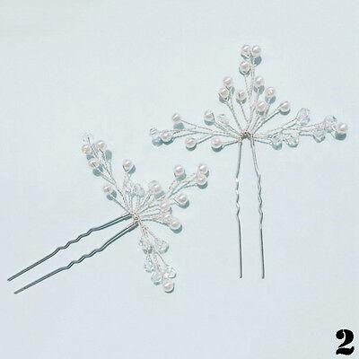 3pcs Gypsophila Pearls Hair Pins Sticks Accessory Wedding Bride Prom Girls Gifts