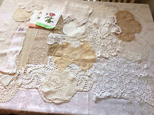 HUGE lot OF VINTAGE Lace and Linens ALL EXCELLENT