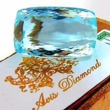GIA Certified 157.55ct Natural Aqua Blue Cushion Cut Aquamarine Magnificent