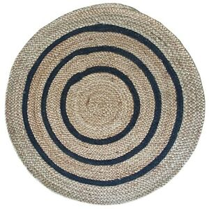 Hand Made Jute Braided Coaster Rug 4 Round Ebay