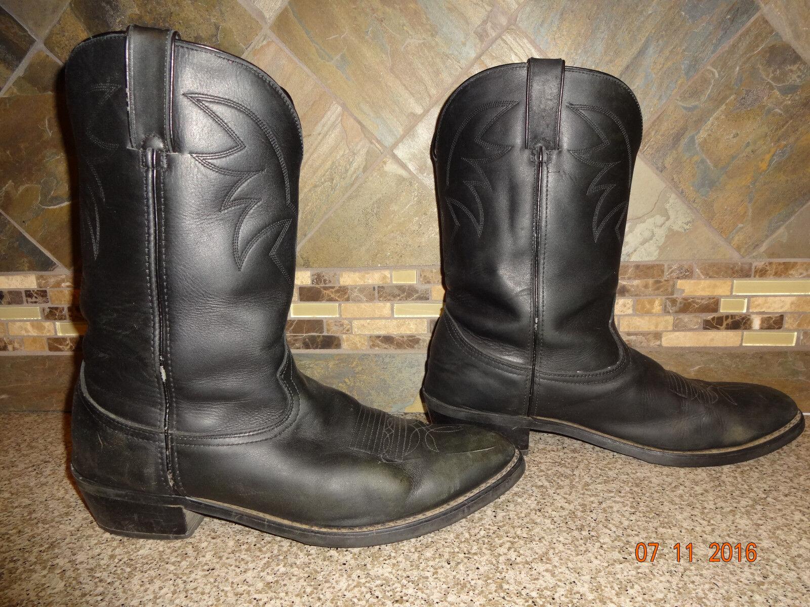 Mens DURANGO Sz 12D Style TR760 Cowboy Boots Black Leather