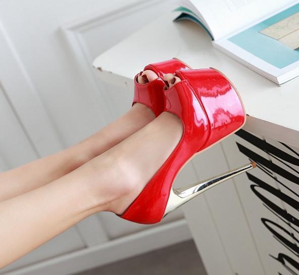 Women's High Stilettos Platform High Heel Peep Toe Sandal shoes Nightclub Party