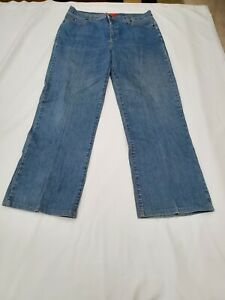 NYDJ-Size-10-Tummy-Tuck-Medium-Wash-Straight-Leg-Jeans-Womens