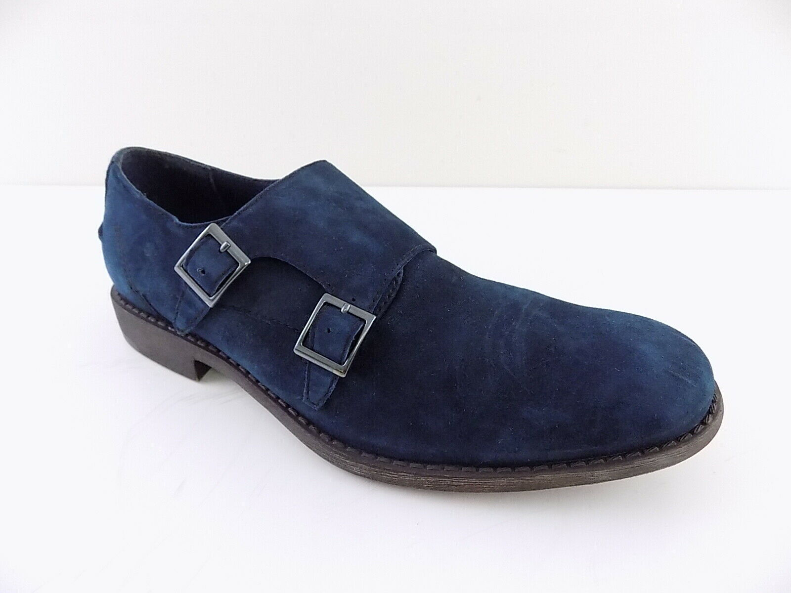 Kenneth Cole 20644 Blue Mens Size 7.5M MONK STRAP Loafers & Slip Ons Shoes