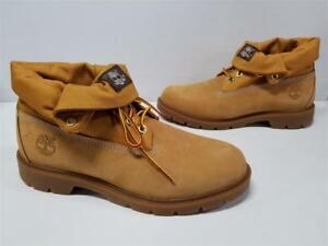 Details zu Mens Timberland Basic Roll Top Boots Wheat Nubuck Leather Boots TB06634A 6634A