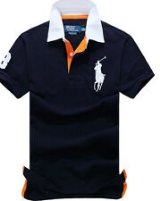 POLO RALPH LAUREN MESH SHORT SLEEVE SHIRT FOR MEN  NAVY (M)