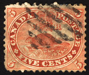 Early-Canada-15-Vermillion-1859-Used
