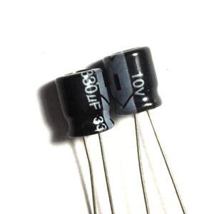 50V 330uF 330MFD 105C Aluminum Electrolytic Capacitors 10×16mm