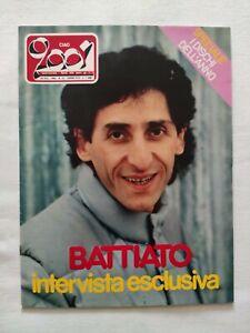 CIAO 2001 N. 52 1982 FRANCO BATTIATO KISS DAVID JOHANSEN EDDY MONEY LUCIO MAGRI