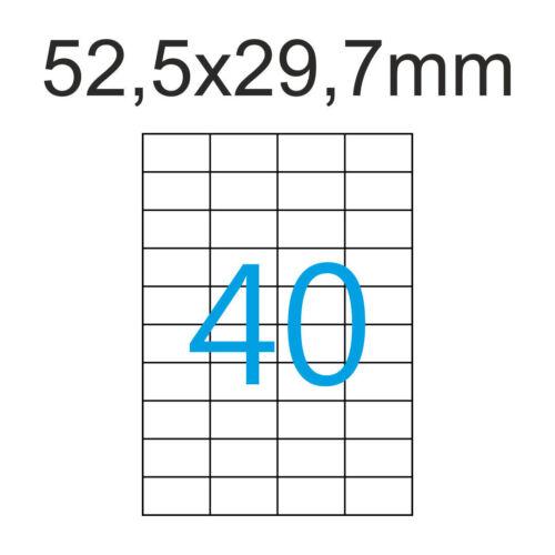 100 Blatt A4 52,5 x 29,7 mm Etiketten Universal Klebepapier 52 x 29 mm Luma