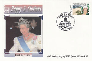 29213-Turks-amp-Caicos-FDC-Queen-40-Years-Accession-1992