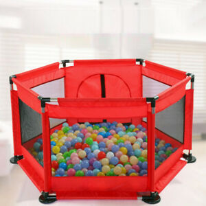 Baby 6 Side Baby Playpen Activities Play Pen Kids Playard Room Divider Outdoor Travel