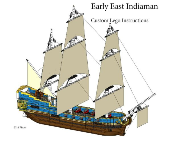 East Indiaman Ship Custom Lego Pirate Imperial Armada Instructions