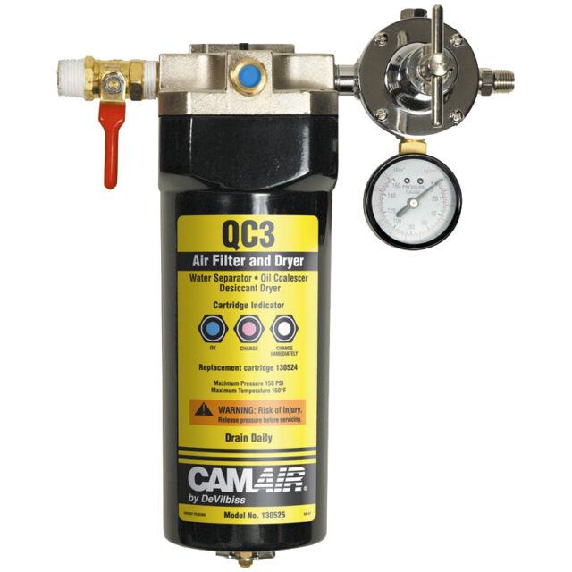 DeVILBISS QC3 DESICCANT Air Line FILTER DRYER Oil Water Humidity Trap Spray Gun
