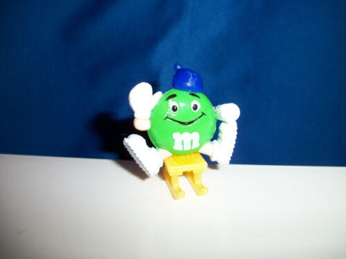 M/&M Green SLEDDER M/&Ms WINTER SPORT Figure on SLED French Pocket Surprise M/&M/'s